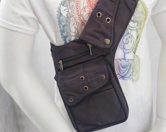 Cotton Fanny Pack,Festival Pouch, Cotton Waist Bag (UNISEX)