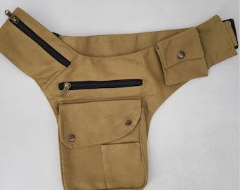 Cotton Fanny Pack,Festival Pouch, Cotton Waist Bag,Unisex, KIF-1701
