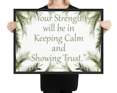 JW 2021 Year Text Framed Poster JW Gift JW Org Keep Calm and Trust in Jehovah Jehovah 39 s Witness Year Text - Palms