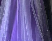"82"" four-row Swarovski Crystal veil"