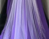 """62"""" DW two-row scalloped veil"""