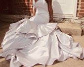 Silver Mermaid Gown