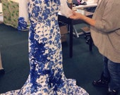 One of a kind Blue flower Dress