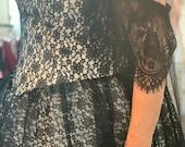 TPS Black/White Lace Ballgown