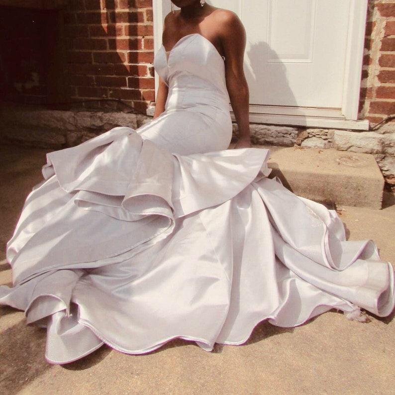 Silver Mermaid Gown image 0