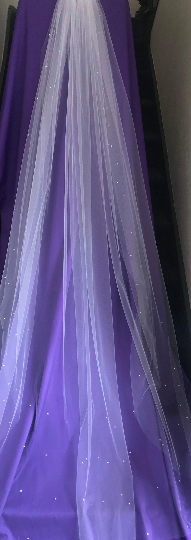 82 four-row Swarovski Crystal veil image 0