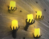 Scary Wall Hand Reaching Candle Holder Horror Decor !!5 Styles!! Included LED Candle