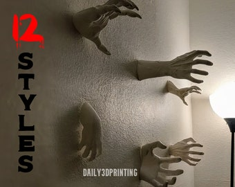 Horror Hands Reaching Wall Mountable Spooky Decor !!New Sizes and Styles!!