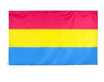 Hand Held Pansexual Pride Pan Pride Flag