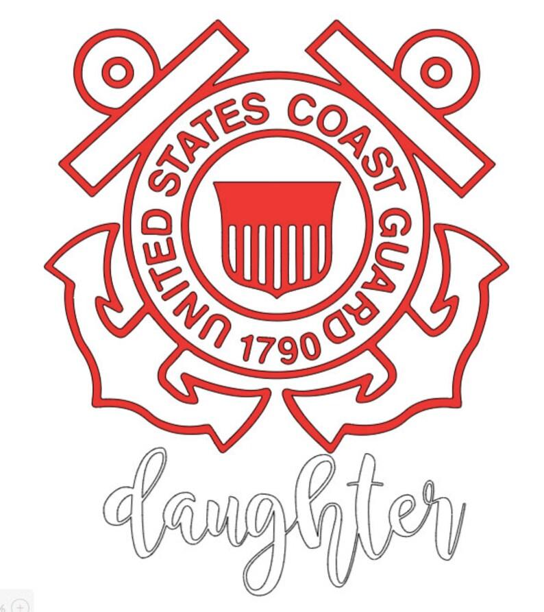 Son Patriotic Coast Guard Baby Daughter Onesie