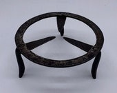 Antique Decorated Wrought Iron Trivet
