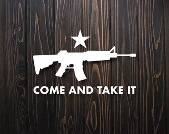 To Disarm Is To Enslave,Guns,3/%,Molon Labe,2A,Rifle,Custom Decals,Vinyl Decal
