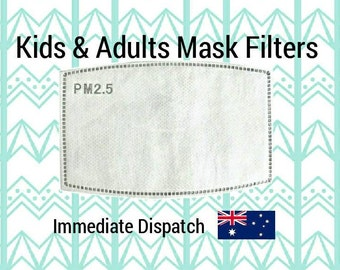 Filters for Adult and Childs Face Mask, 5 layer Filter, PM 2.5 Filter, Kids face mask filter