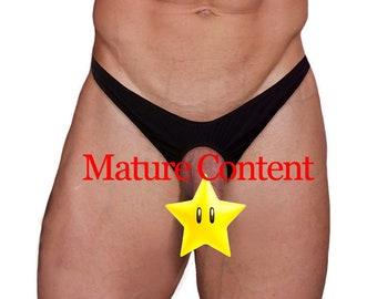 LW489 Men's Sex Thong Ring Underwear