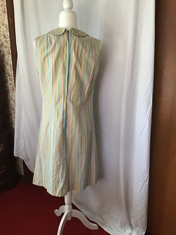 Cotton Candy Stripes  Seersucker Dress - image 3