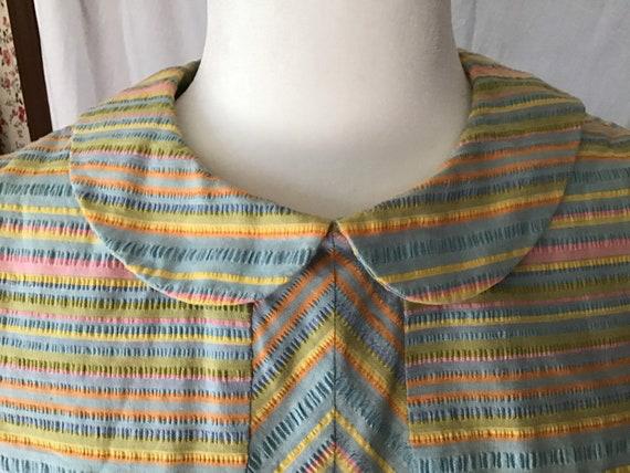 Cotton Candy Stripes  Seersucker Dress - image 2