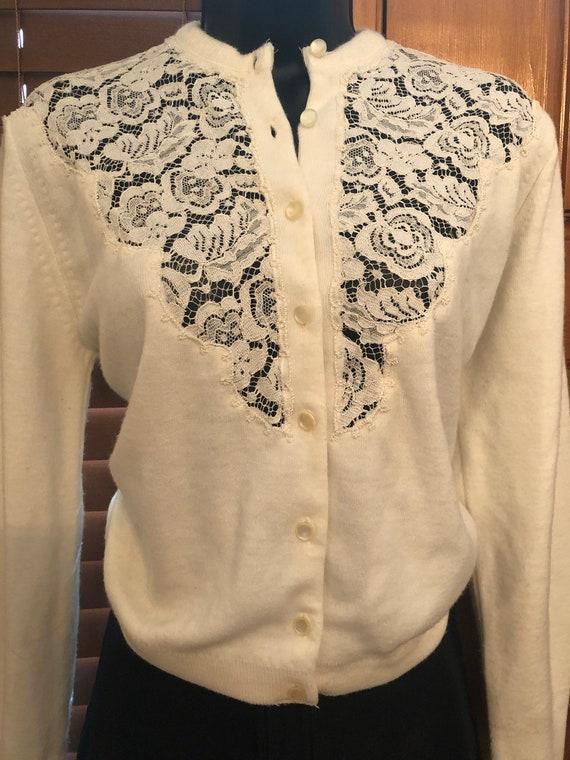 Vintage Hand Knit Lace Top