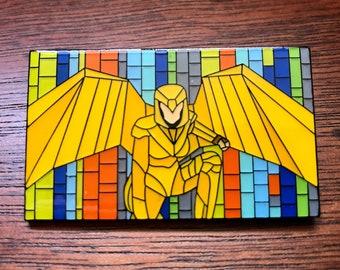 """Wonder Woman Mosaic Art Enamel Pin 2"""" x 1 1/4"""" Gal Gadot DC Comics"""