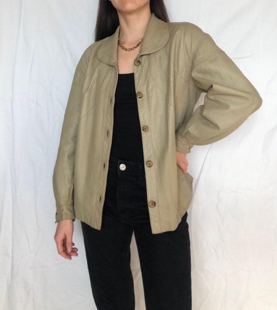 Vintage leather shirt vintage leather jacket