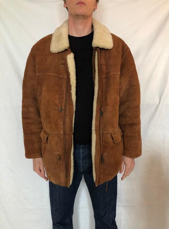 Vintage shearling jacket vintage lambskin coat