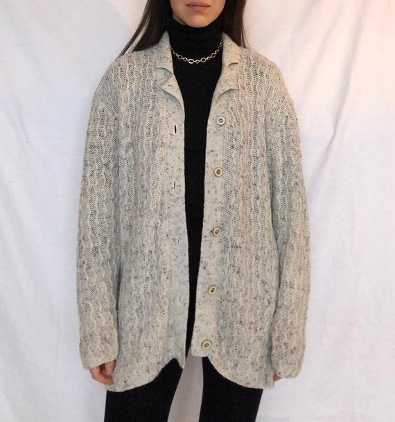 Vintage cardigan vintage knit jacket chunky knit