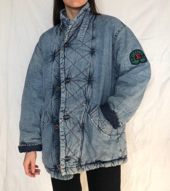 Vintage winter denim jacket vintage outerwear