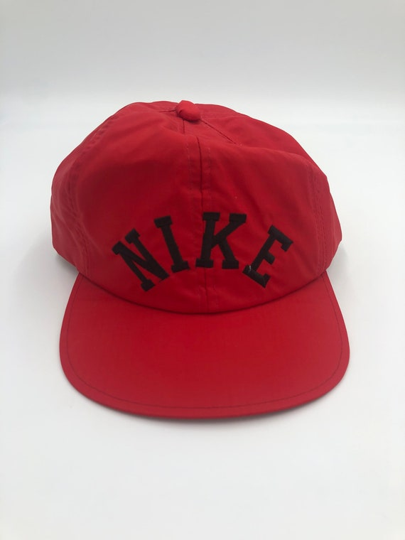 Nike Vintage Snapback Hat Red And Black Terry Clot