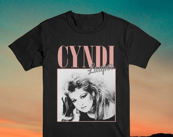 Cyndi Lauper Vintage T Shirt 90S Inspired DESIGN THROWBACK Classic T-Shirt Throback Homage