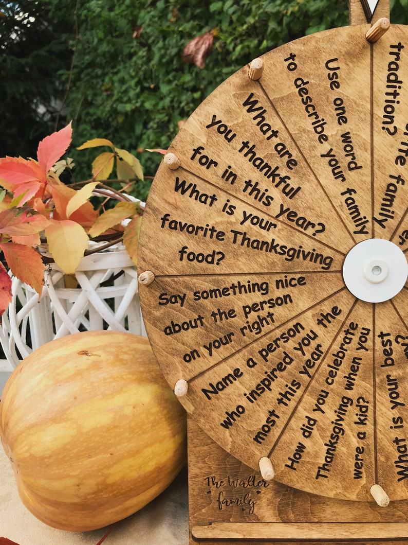 Spin The Wheel Family Thanksgiving Game