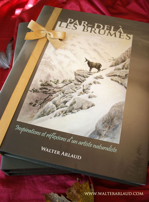 "Book ""Beyond the Mists"" album, naturalist book, gift, art, animal paintings, watercolors, oils, charcoals, drawings, illustration"