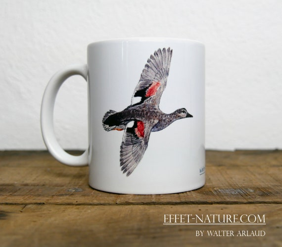 Mug Duck Chipeau, signed by artist Walter Arlaud, Chipeau duck cup, mug, cup, animal art, hunting gift, decoration, tea, coffee