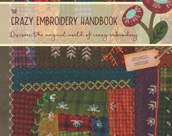Embroidery quilting stencil+handbook with more than 300 pictures,  basic embroidery stitches and advanced combinations. Even for beginners.