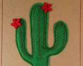 Beautiful, unique handmade 3D cactus cards. Made from felt, buttons, upcycled stuffing and recycled card. Choose your own colour preference!