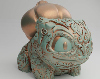 Ornament Bulbasaur - 3D printed - comes in multiple different sizes and in either Resin or PLA+