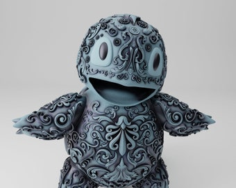 Ornament Squirtle - 3D printed - comes in multiple different sizes and in either Resin or PLA+