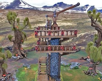 Skydock 15mm 28mm 32mm - Dwarves, Elves and Demons | D&D Miniature Terrain Warhammer 40k Tabletop Miniatures Pathfinder Frostgrave