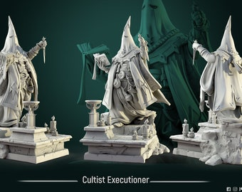 Cultist Executioner | 75mm and 32mm scale - by White Werewolf Tavern