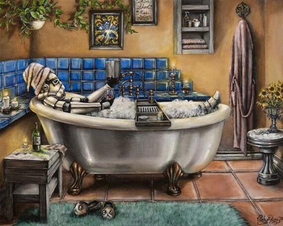 Stormtrooper Bubble Bath A Good Book, Star Wars Bathroom