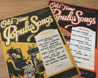 """Sheet Music """"Old-Time Popular Songs"""""""
