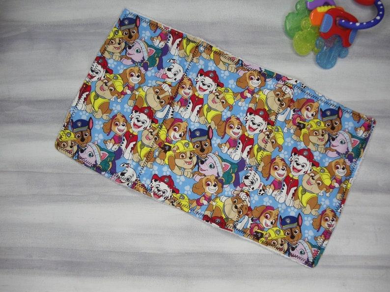 Handmade Burp Cloth-Paw Patrol Burp Cloth-Spit rag