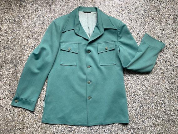 70's Mint Green Suit Jacket - image 1