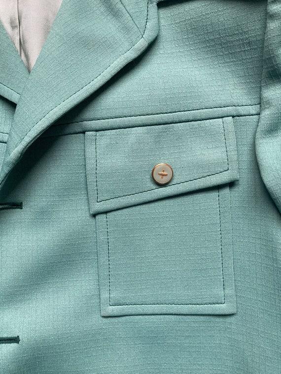 70's Mint Green Suit Jacket - image 3