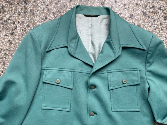 70's Mint Green Suit Jacket - image 2