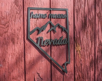 Home Means Nevada Metal Sign