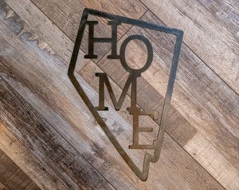 Unique Nevada HOME Metal Sign