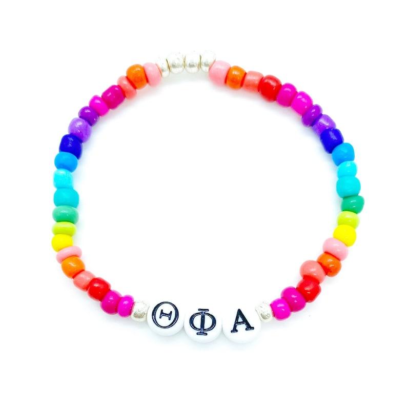 Sorority Bracelet Theta Phi Alpha Stackable Bracelet by Filthy Mouth Brooklyn