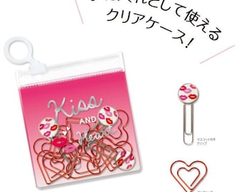 Kiss & Heart Paper Clips