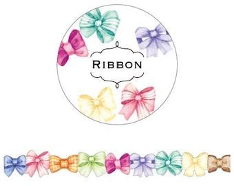 Chigi Roll Ribbon Stickers // Cute Kawaii
