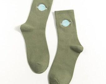 Planet Socks // Kawaii Cute Socks //