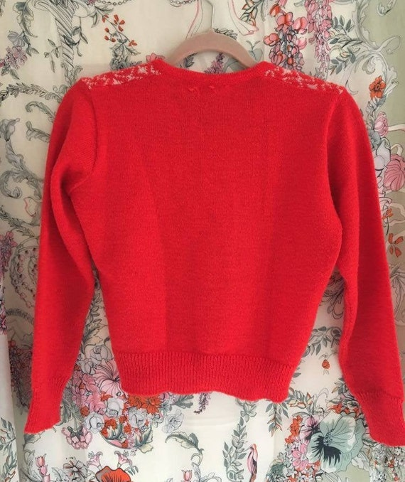 Vintage 1970s Red Mohair Jumper UK6-8 - image 4
